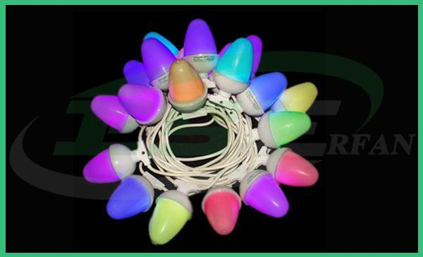 ریسه بلوطی فول کالر- Full color oak string light- شرکت عرفان صنعت اصفهان