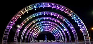 تونل نوری اجرا شده با ریسه بلوطی