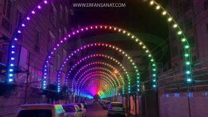 تونل نور با ریسه بلوطی